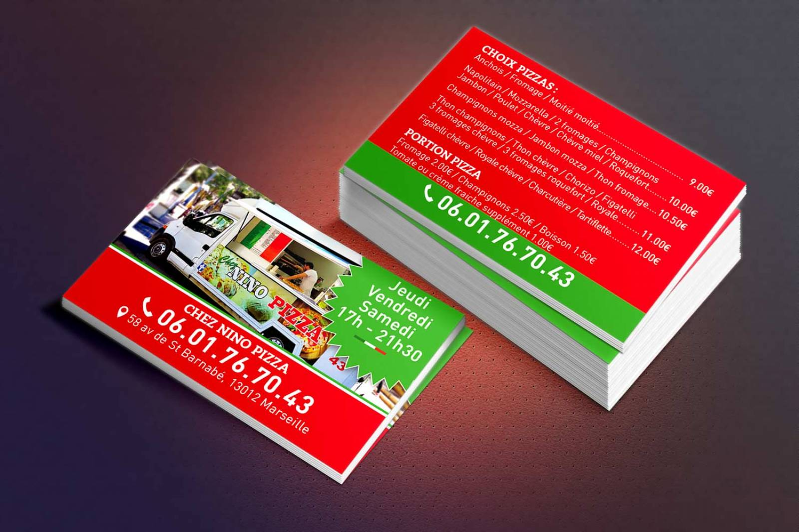 Cration Graphique Et Impression De Cartes Visite